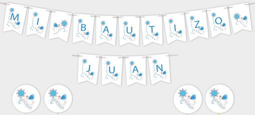 banderola personalizada decoracion bautizo