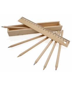caja lapices de madera