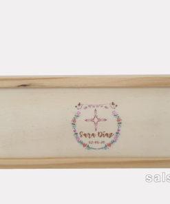 caja de domino madera