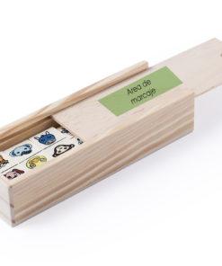 domino animalitos madera personalizado
