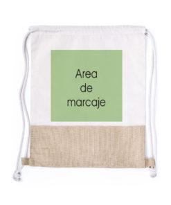mochila con yute personalizado