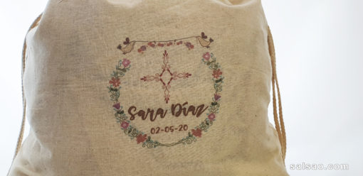 mochila algodon yute personalizada