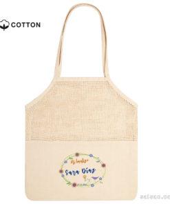 bolsa de redecilla de algodón peesonalizada