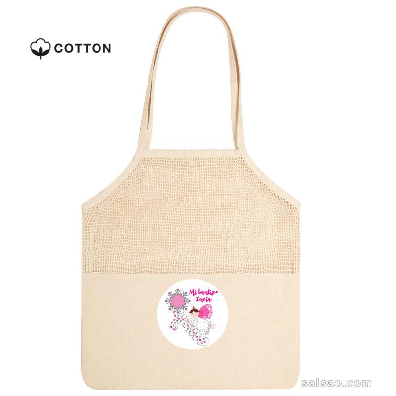 bolsa de redecilla de algodón personalizada