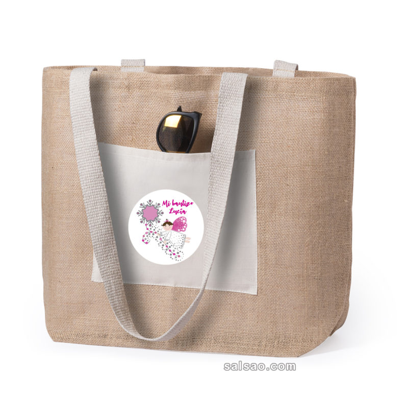 bolsa yute con algodón personalizado
