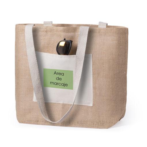 bolsa yute con algodon personalizado