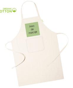 delantal algodon organico personalizado