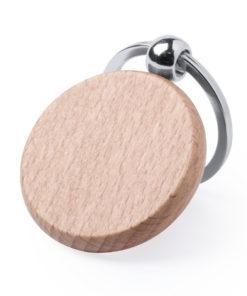 llavero madera natural