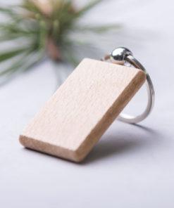 llavero de madera natural