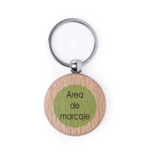 llavero de madera natural personalizado