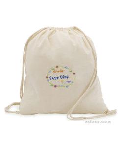 mochila algodón personalizada