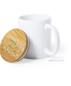 taza ceramica tapa bambu