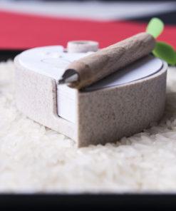 portanotas de caña de trigo personalizado