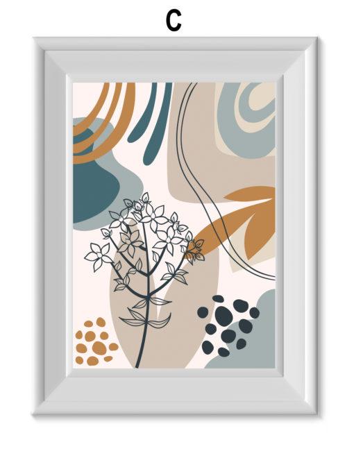 laminas plantas y fondo abstracto