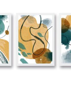 triptico figuras abstractas
