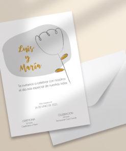 invitacion boda imprimible modelo flores