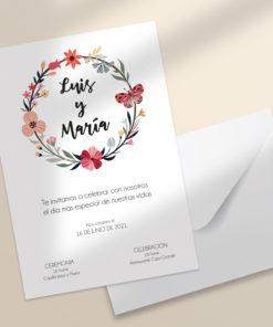 invitacion boda flores y mariposas imprimible SALSAO