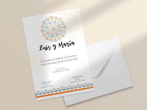 invitación boda editable mandala SALSAO