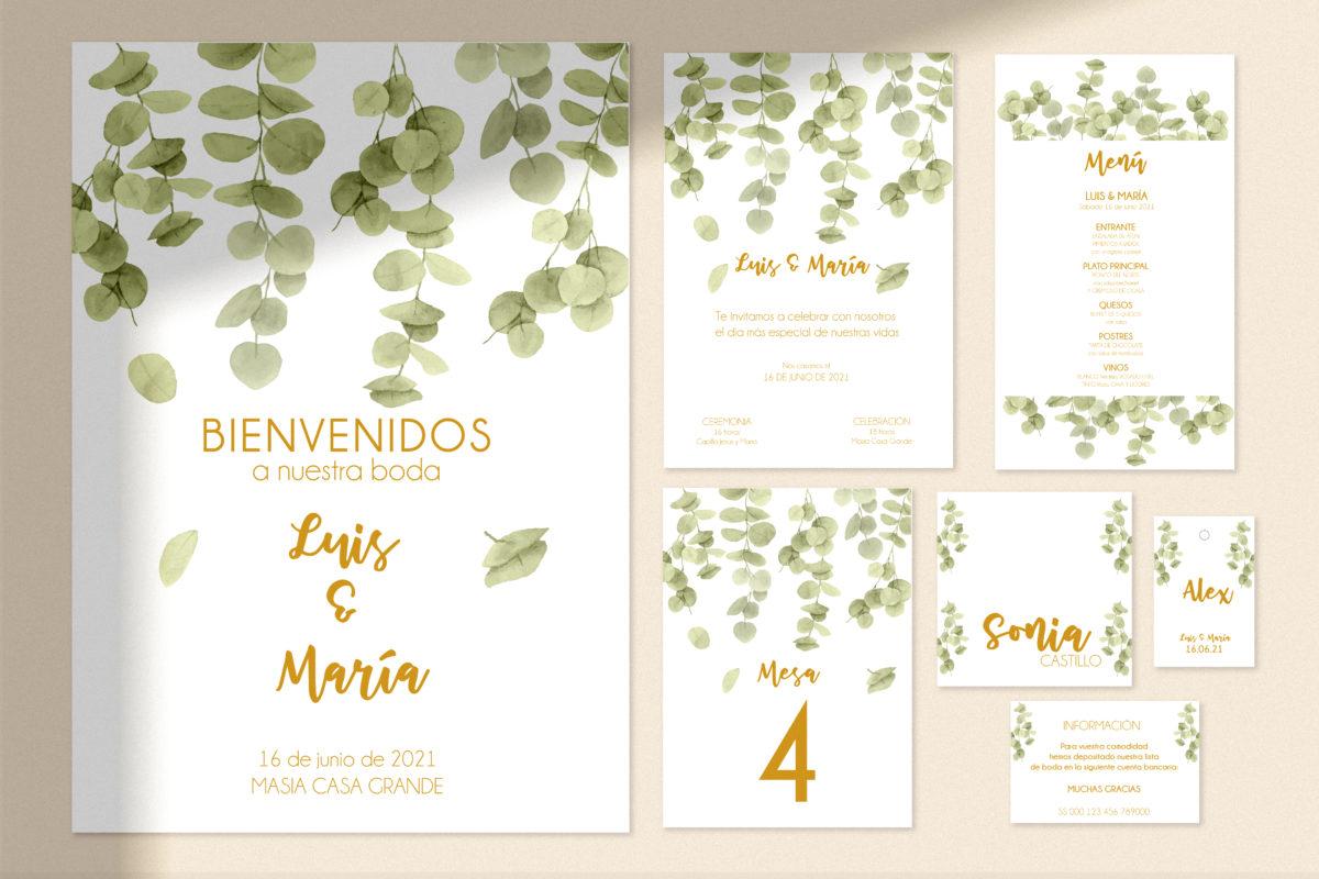kit imprimible boda modelo eucalipto DIG
