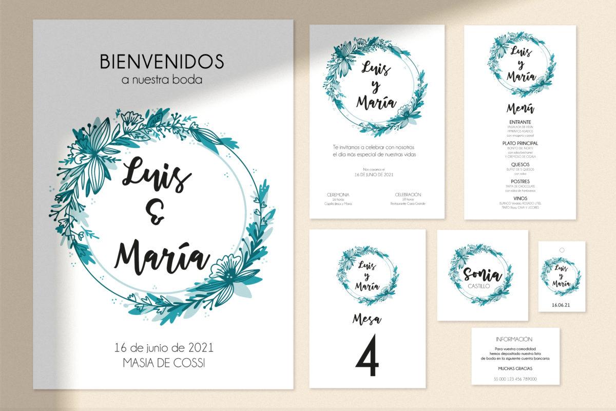 kit papeleria boda imprimible personalizada SALSAO