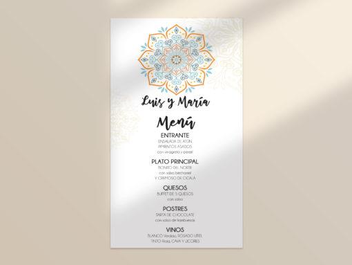 menú boda editable mandala SALSAO