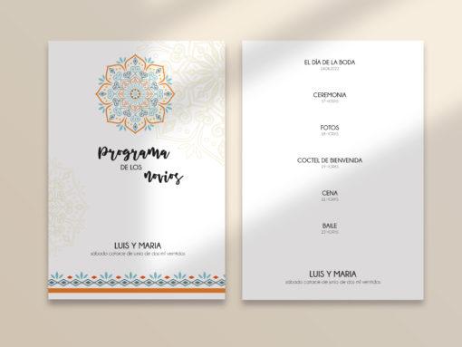 programa boda editable mandala SALSAO