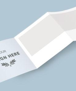 folleto plegado para eventos