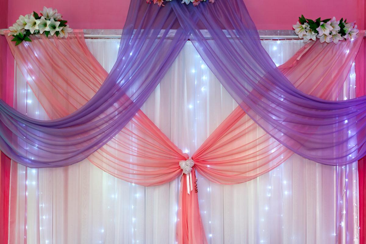 decoracion con telas y papel para eventos bodas en valencia